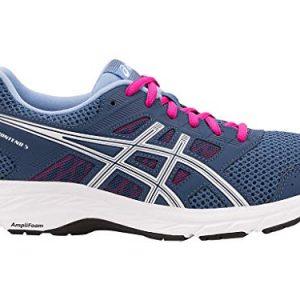 ASICS Womens Gel-Contend 5 Running Shoes, 8.5M, Grand Shark/White