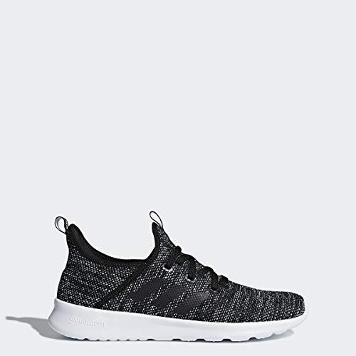adidas Performance Womens Cloudfoam Pure Running Shoe, Black/Black/White, 8 M US