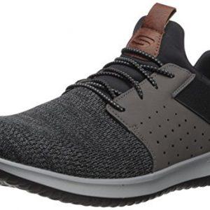 Skechers Mens Classic Fit-Delson-Camden Sneaker,black/Grey,10.5 M US
