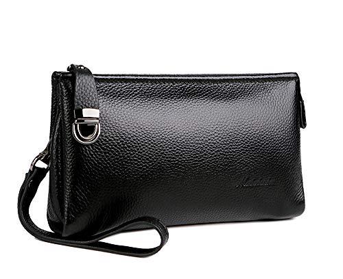 Mens Clutch Bag Handbags Genuine Leather Wallets Business Organizer Purse Rangren